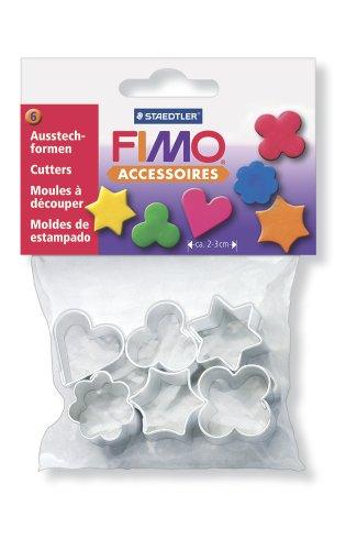 Dtm Loisirs Creatifs Staedtler - Fimo Accessoires - Polybag 6 Mini Emporte-Pièces Motifs Assortis @ 2 - 3 cm