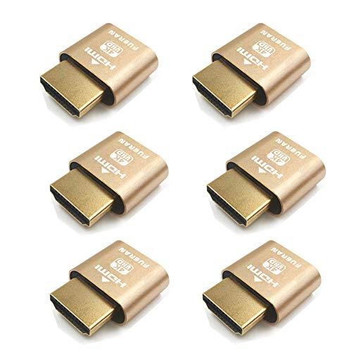 HDMI Dummy Plug Headless Ghost Display Emulator DDC EDID Emulator Fake Display 4K @ 60Hz-6 Stück