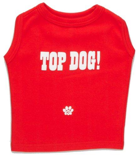 'K9 T-shirt met opschrift Top Dog met metalen doos rood, X-Small, rood