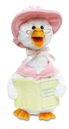 Cuddle Barn Mother Goose Animated Talking Musical Plush Toy, 14