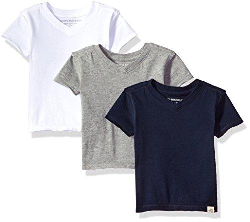 Burt's Bees Baby Baby Boys' T-Shirts, Set of 3 Organic Long V-Neck Tees,...