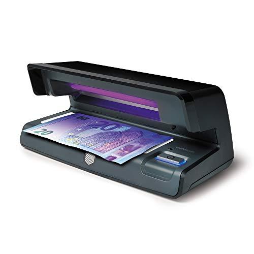 Safescan 70 Negro - Detector UV con luz LED para verificar la marca al agua y la microimpresión en billetes, tarjetas de crédito y documentos de identidad