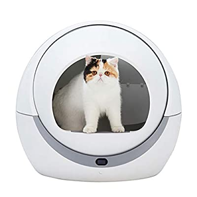 Adesign Automatic Cat Toilet Automatic Cat Sandbox Induction Rotary Cleaning Cat Robot Litter Large Kitty Self Cleaning Litter Box