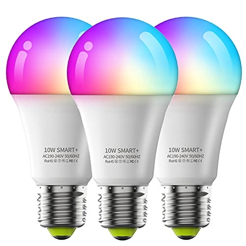WiFi Smart Bombilla LED Bombillas RGB Cambio de Color Bombillas Controlador Remoto Bombilla Trabajo con Alexa