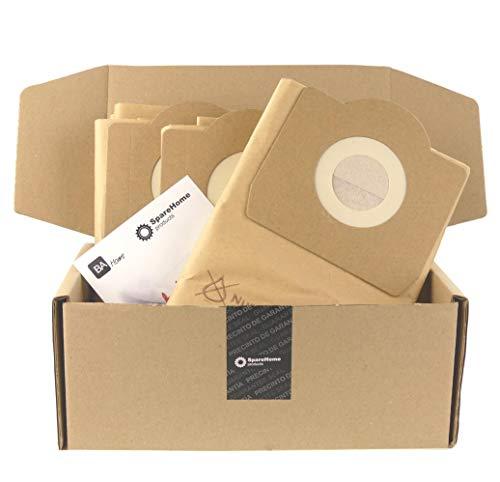 SpareHome® 10 bolsas de alta filtración para aspirador Titan - Stanley - Soteco - Vegas