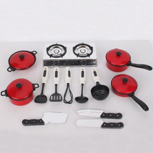 Dcolor 13 Ensembles Pots et Poeles Batterie de Cuisine pour les enfants Jouer Jouets Maison, Simulation Ustensiles de Cuisine