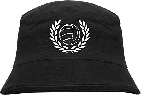 HB_Druck Lorbeerkranz + Fussball Fischerhut - Bucket Hat L/XL Schwarz