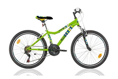Frank Bikes 24 Zoll Kinder MÄDCHEN Jungen MTB Mountainbike Fahrrad 18 Gang JUGENDFAHRRAD KINDERFAHRRAD Bike Rad Federgabel Maestro GRÜN