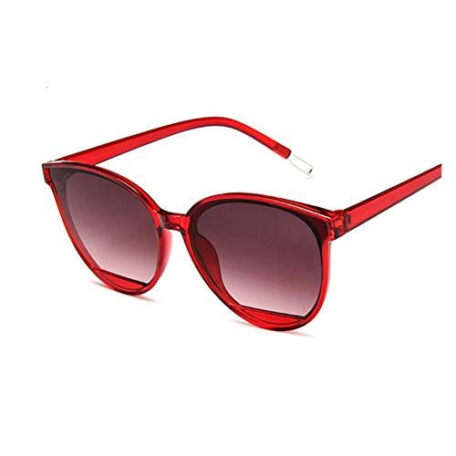 MissLi Gafas De Sol Clásicas Ovaladas Rojas para Mujer, Gafas De Sol De Ojo De Gato De Diseñador De Marca De Plástico Vintage para Mujer, UV400 (Color : 8)