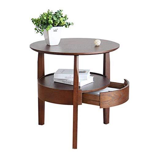 coffee table. Small round table. Small square tabl -Tabelle Home Möbel-Endtisch / Beistelltisch, runder Akzent-Tisch, Espresso, Nachttisch, mit Schublade, Wohnzimmer / Schlafzimmer Nachttisch, 2 Größe
