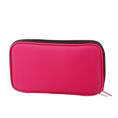 JUNGEN Trousse à Crayon Pochette Multi-usage Couleur Bonbon Sac de Rangement pour Pinceaux de Maquillage Sac papeterie(rose)