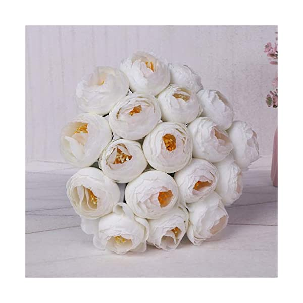 Luonita Wedding Bouquet ,Artificial Flowers Crystal Rose Pearl Bridesmaid Wedding Bouquet Bride Artificial Silk Flower for Home Garden Party Wedding Decoration