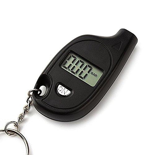 iTimo - Medidor Digital de Presión de neumáticos para Motocicleta, medidor de Presión de neumáticos, Mini Herramienta de diagnóstico Llavero, Detector de Coche, Pantalla LCD