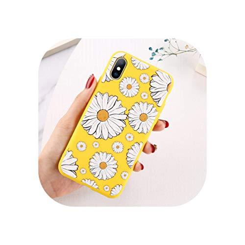 Moskado Bloemen Telefoonhoesje Voor Iphone 11 Pro X Xr Xs Max 7 8 6 6S Plus 5 5S Se Chrysant Bloemen Zachte Tpu Siliconen Back Cover, For iPhone 7 Plus, 6678