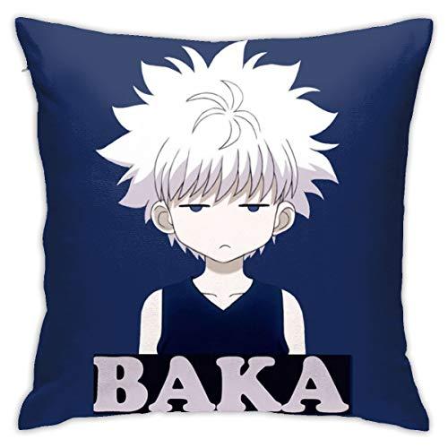 Hajk Anime Killua-Zoldyck Gon Cosplay Merch Pillowcase Multicoloured Generalduty 18inch18inch
