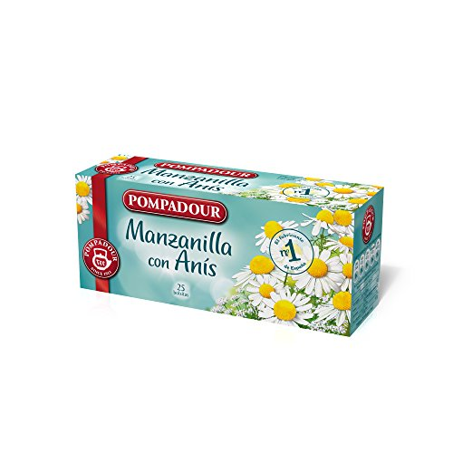 Pompadour - Manzanilla Con Anís, 25 bolsitas, 33.75 g