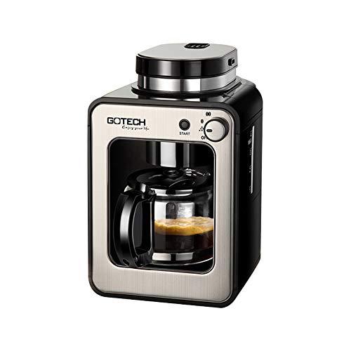 Máquina de café de filtro, máquina de café de molienda y preparación, 600 W, 580 ml, adecuada para la oficina en casa