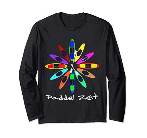 Kanu, Kajak, Kanadier und Paddeln, Paddel Zeit Shirt. Langarmshirt