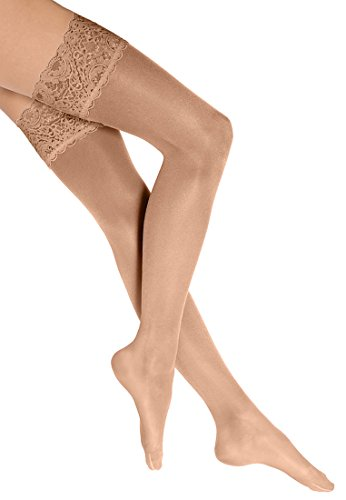 Wolford Damen Halterlose Strümpfe & Socken (LW) Satin Touch 20 Stay-Up, 20 DEN,gobi,Medium (M)