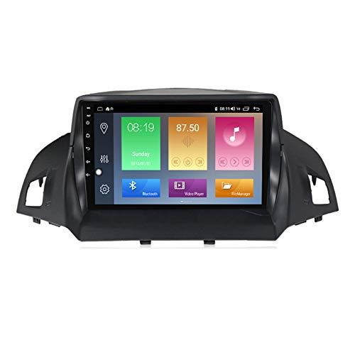 Amimilili Android 9 Car Radio de navegación GPS para Ford Kuga Escape 2013-2017 9 Pulgada Bluetooth/USB/WiFi/FM / MP5 /Manos Libres/Enlace Espejo/Control del Volante,M100 1+16g