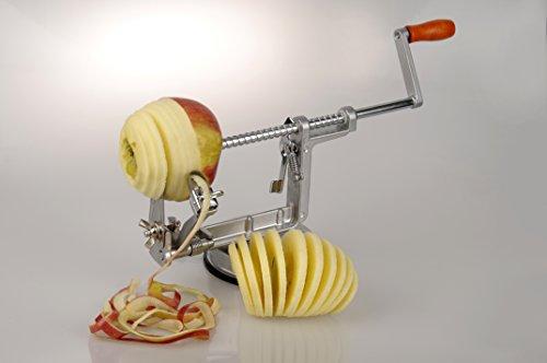 MaxxGoods Apfelschäler - Apfelschneider - Apfelentkerner - 3 in 1 Funktion in Premium Qualität
