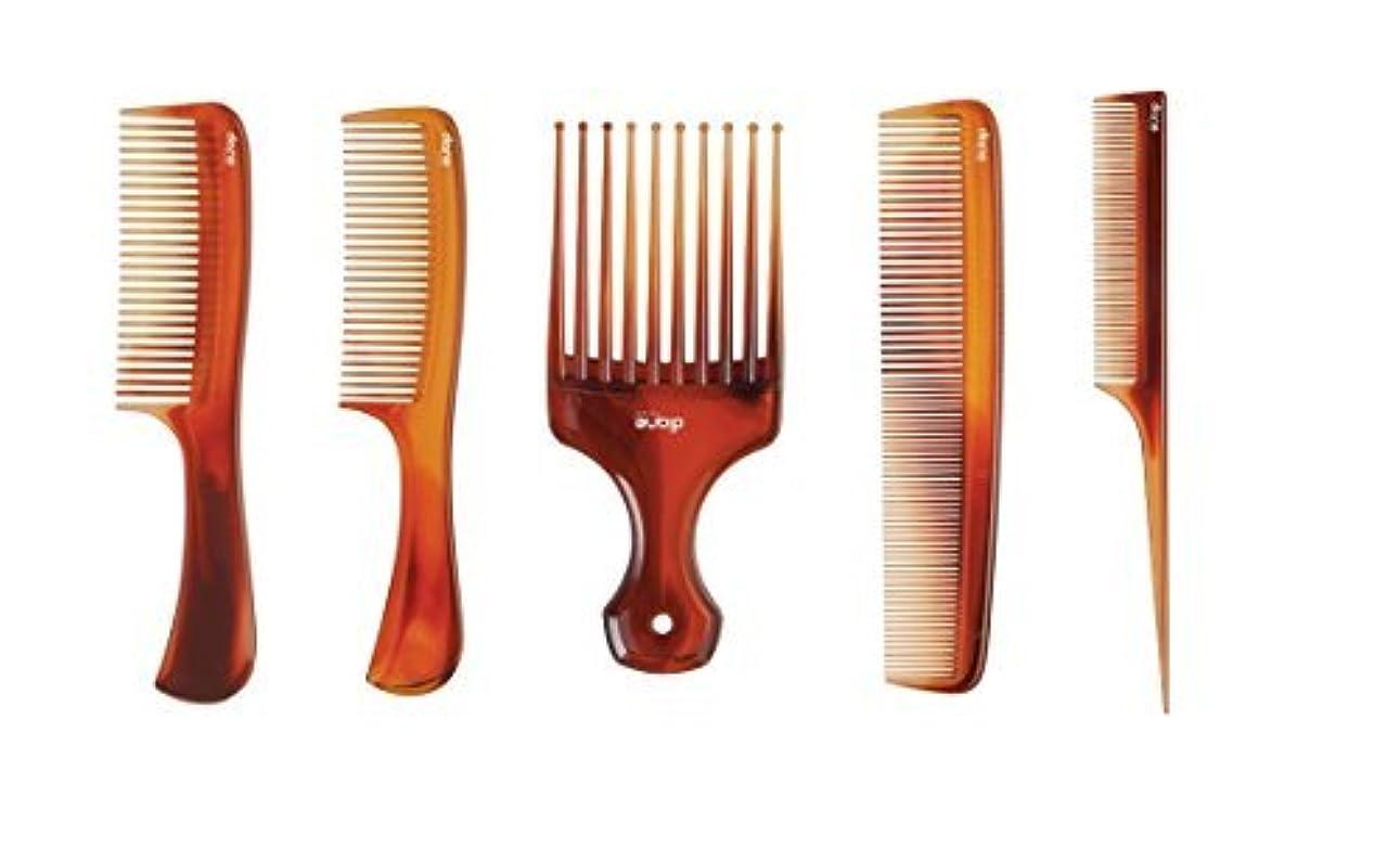 航空便決して逮捕MayaBeauty (5-pack) Tortoise Comb Kit (Includes: Lift Comb/Pik, Large Shampoo Comb,Small Shampoo Comb, Dressing Comb, Rat Tail Comb) [並行輸入品]
