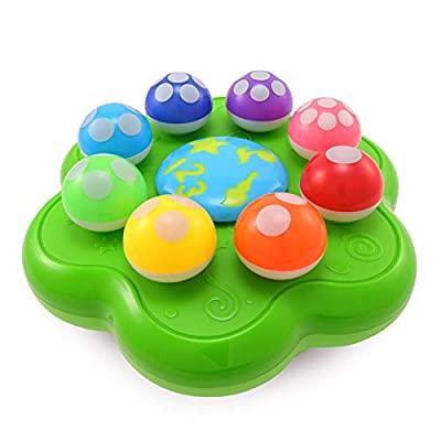 BEST LEARNING Mushroom Garden - Interactive Educational Light-Up Toddler Toys for 1 to 3 Years Old Infants & Toddlers - Colours, Numbers, Games & Music for Kids by Best Learning Materials Corp.