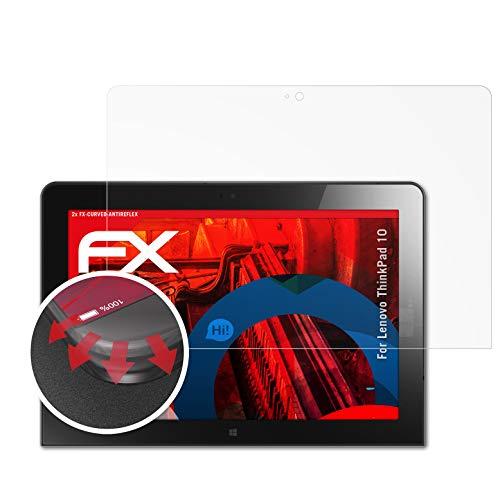 atFolix Schutzfolie kompatibel mit Lenovo ThinkPad 10 Folie, entspiegelnde & Flexible FX Bildschirmschutzfolie (2X)