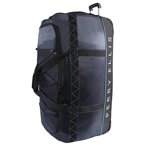 Perry Ellis Men's Extra Large 35' Rolling Bag-A335 Duffel Bag Navy/Blue One Size