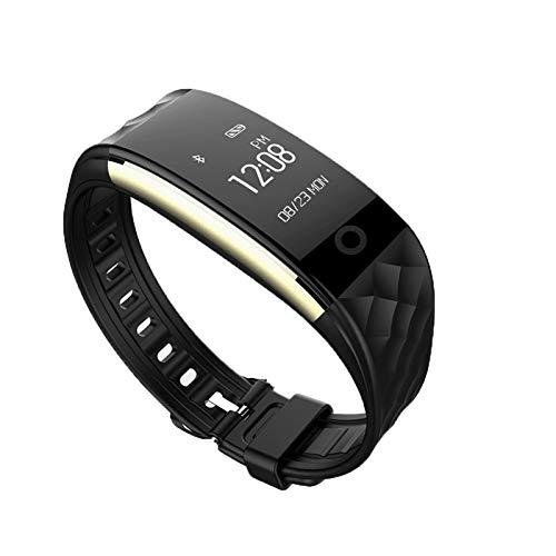 HCHL Orologio Fitness Tracciatore di attività Bluetooth Impermeabile, Braccialetto Intelligente per La Frequenza Cardiaca, 14 modalità Sport, Esercizio in Bicicletta (Color : Black)