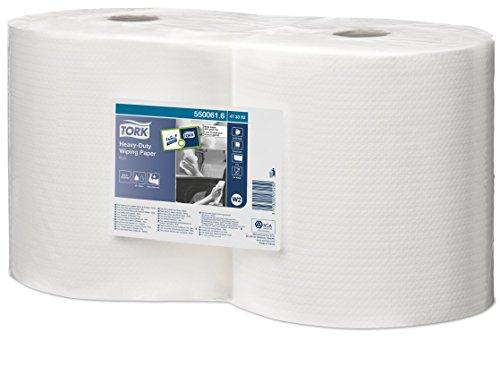 Tork 510150 Reinigungstücher für W8 Small Pack System / 1-lagige Putztücher in Weiß / Weich, flexibel & strapazierfähig / Premium Qualität / 1 x 440 Tücher / 32 x 38,5 cm (B x L)