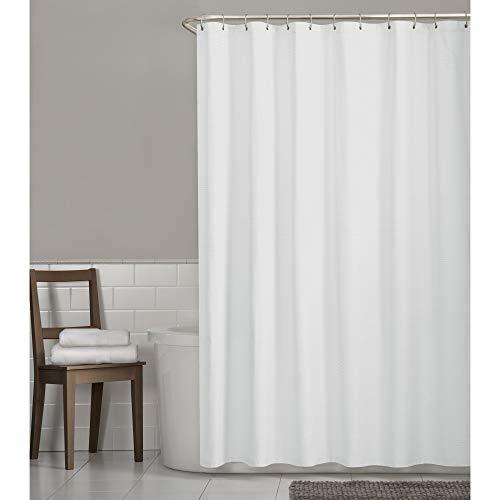 Zenith Stoff Dusche Liner/Vorhang, Waffelmuster Waffelpiqué weiß