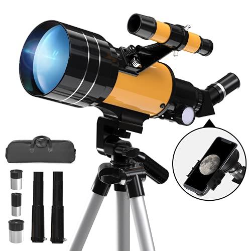 Telescopio Astronomico, 300/70mm Telescopio Rifrattore con...