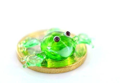 Unbekannt Mini grenouille en verre vert - Décoration miniature en verre