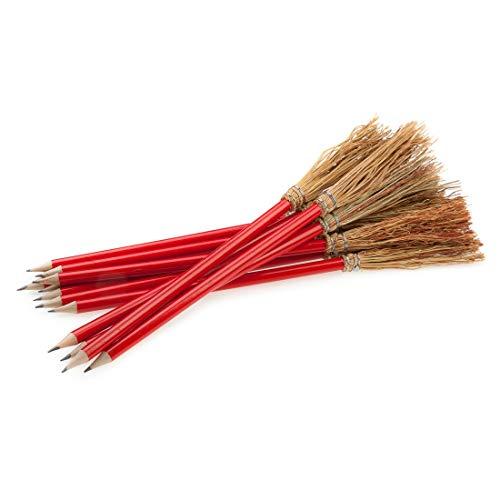 Mendi 6 Bleistift Besen 26 cm Farbe Rot
