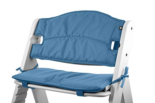 Tinydo® Hochstuhl-Sitzkissen optimal für Hauck Alpha und ähnliche Treppenhochstühle 2teilg. Set mit Memory-Schaum-Dämpfung Sitzverkleinerer-Auflage für Babystühle rutschfest pflegeleicht (Blau)