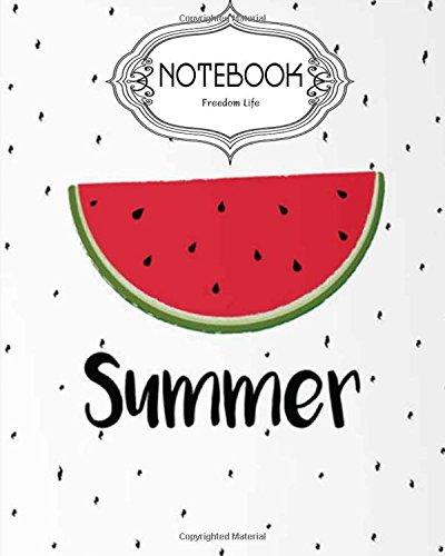 Notebook Journal Dot-Grid,Lined,Blank No Lined : Watermelon v.3: Notebook Journal Diary, 120 pages, 8' x 10' (Notebook Journal)