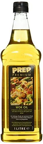 PREP PREMIUM Woköl 1 x 1000 ml PET Wok Öl Für die asiatische Küche Sonnenblumenöl geröstetem Sesam öl, verfeinert mit Knoblauch- & Ingweraromen für Wok Gerichte