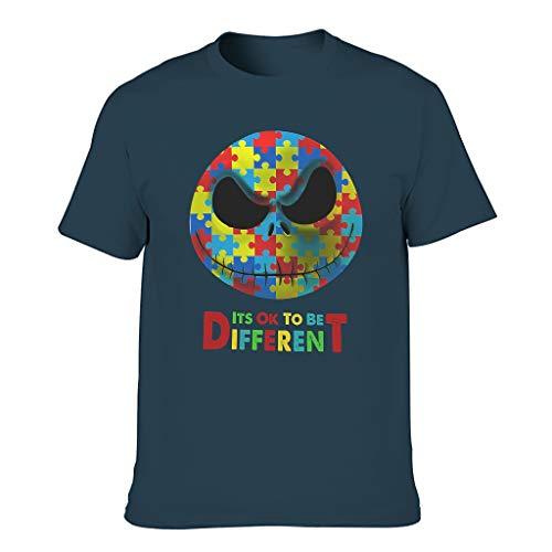 Está bien ser diferente Jack Antes de Navidad Pesadilla ligera y colorida camiseta vintage para adolescentes niños y niñas adolescentes