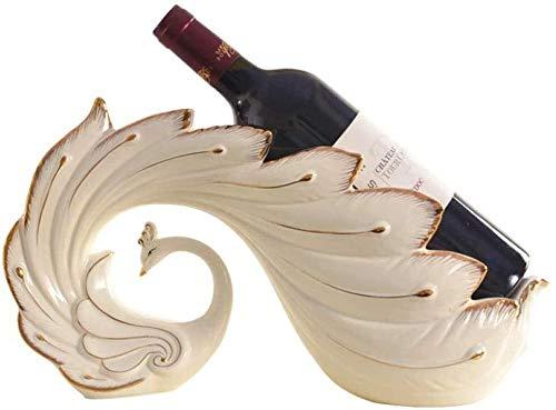 Diseñado para insertarse copas de vino muy fácilmente con m Decoración de la decoración del hogar de pavo real de cerámica botellero luz artesanía gabinete del vino europeo la decoración del hogar del