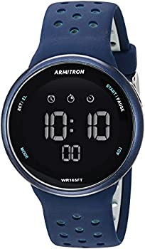 Armitron Sport Quartz Fitness Watch with Silicone Strap Blue 22  Model  40/8423NVY