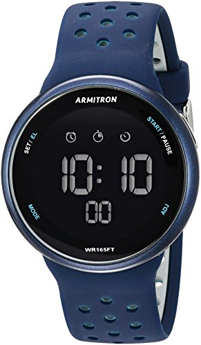 Armitron Sport Unisex 40/8423NVY Grey Accented Digital Chronograph Navy Blue