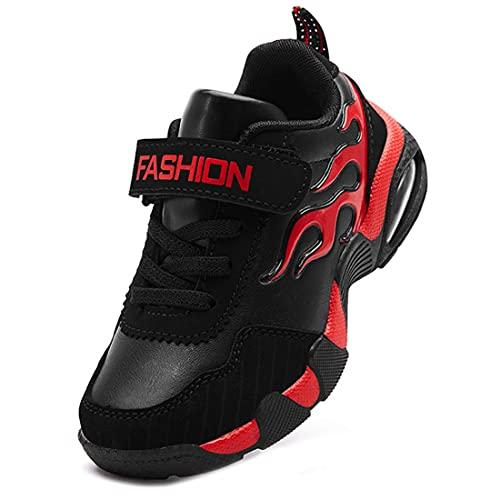 ZOSYNS Zapatos de niña para el tiempo libre, invierno, cálidos, resistentes al desgaste, deportivos, caminatas, exteriores, planos, 28-37, color, talla 37 EU