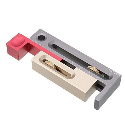 Ranura de sierra de mesa, ajustador de ranura de sierra, ajustador de mesa de sierra, mortaja y herramienta de tenón móvil longitud del bloque de medición..