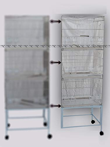 New Little Birds Batteria per allevatori 81414 (modulo b) composta da Tre Gabbie, con Carrello