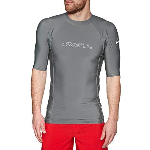 O';Neill Basic Skins Kurzarm-Crew-Rash-Weste Top Smoke - UV-Sonnenschutz und SPF-Eigenschaften