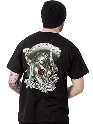 West Coast Choppers WCC T-Shirt Cholita Schwarz-S