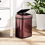 AmazonBasics – Automatischer Mülleimer aus Edelstahl, rechteckig, 12 l - 4