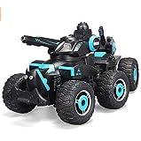 HOMEDAI Giocattoli per I Bambini Le Auto 2.4Ghz Telecomando Cisterna Simulato 6WD Fuoristrada Carro Armato di Rotazione della Torretta di Controllo Remoto Ad Alta velocità (Ricaricabile)