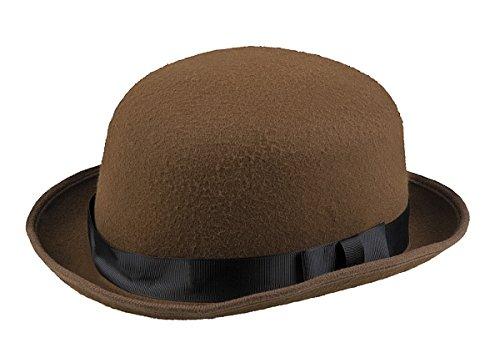 TH-MP Meln Sombrero Bowler para hombre, color marrn